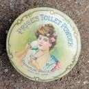 PRICE TOILET POWDER BOX-FACE POWDER;PRETTY LADY IMAGE