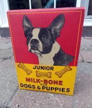 RARE MILK BONE JUNIOR BISCUITS BOX-NABISCO;DOG IMAGES