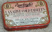 RAWLEIGH'S LAXATIVE COLD TABLETS TIN(MEDICINAL)