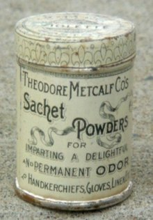 THEODORE METCALF SACHET POWDERS TIN