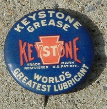 KEYSTONE GREASE CELLULOID PINBACK9AUTOMOTIVE)
