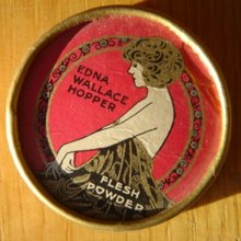 EDNA WALLACE HOPPER FACE POWDER BOX