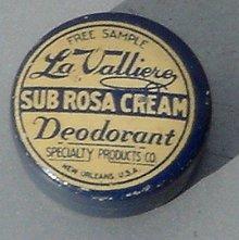 LA VALLIEROY SUB ROSA CREAM DEODORANT TIN-SAMPLE