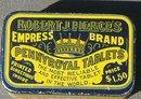 ROBERT J. PIERCE'S EMPRESS BRAND PENNYROYAL TABLETS TIN