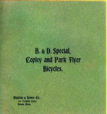 1899 B & D SPECIAL COPLEY AND PARK FLYER BICYCLES CATALOG