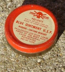 BLUE OINTMENT POISON TIN