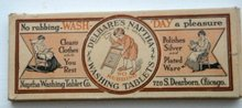 DELBARE'S NAPTHA WASHING TABLETS BOX-GRAPHIC