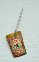 BEECH-NUT SLICED BACON JAR CELLULOID STICKPIN