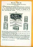 SCARCE 1897 SLADE'S SPICES CALENDAR-GRAPHIC