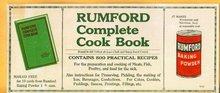 RUMFORD COMPLETE COOK BOOK BLOTTER