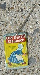 OLD DUTCH CLEANSER CELLULOID LAPEL PIN