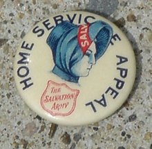 EARLY SALVATION ARMY CELLULOID PINBACK BUTTON