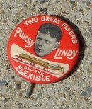PLUCKY LINDY/FLEXIBLE FLYER SLED CELLULOID PINBACK BUTTON(CHARLES LINDBERGH)
