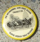 THE INTERNATIONAL AUTO SIGHT SEEING TRANSIT CO. CELLULOID PINBACK BUTTON
