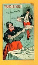 SCARCE  TANGLEFOOT ADVERTISING TRADE CARD -FLY(BUG) CATCHER