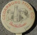 CEDARBURG MILK CELLULOID ADVERTISING MIRROR-GRAPHIC