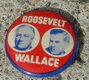 ROOSEVELT/WALLACE PINBACK - 1944