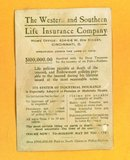WESTERN & SOUTHERN INSURANCE CO TRADE CARD-CINCINNATI, OHIO