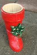 1940's ERA CANDY CONTAINER CHRISTMAS BOOT