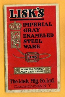 LISK IMPERIAL GRAY ENAMELED STEELWARE (GRANITEWARE) CATALOG BOOKLET