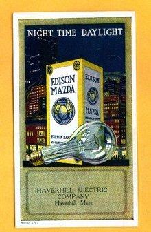 EDISON MAZDA ADVERTISING BLOTTER-COLORFUL