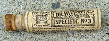 DR. HILTON'S SPECIFIC NO. 3 MEDICINAL BOTTLE