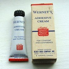 WERNET'S ADHESIVE CREAM TUBE/BOX;SAMPLE?(DENTAL)