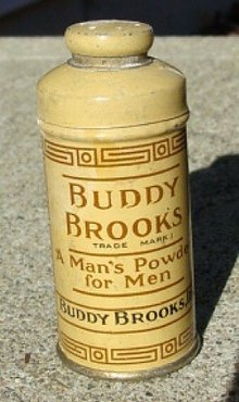 BUDDY BROOKS-MAN'S POWDER FOR MEN TIN-SAMPLE
