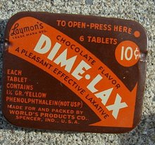DIME-LAX LAXATIVE TIN