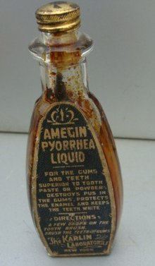 AMEGIN PYORRHEA LIQUID BOTTLE (DENTAL)
