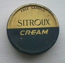 COLD CREAM TIN - SITROUX  COLD CREAM; SAMPLE TIN