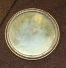 COLUMBIA TOOL STEEL CO CELLULOID ADVERTISING MIRROR