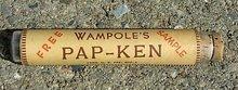 WAMPOLE'S PAP-KEN SAMPLE BOTTLE-EMPTY