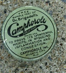 DR,  BRIGADELL'S CAMPHOROLE SAMPLE TIN