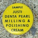 JUSTI SAMPLE DENTA PEARL MILLING & POLISHING CREAM TIN