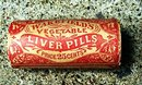 WAKEFIELD'S VEGETABLE LIVER PILLS WOODEN CONTAINER VIAL