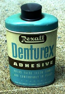 DENTUREX ADHESIVE FOR FOR FALSE TEETH TIN (DENTAL)