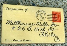 MILLBOURNE MILLS(FLOUR) CO CELLULOID CALENDAR(-1900-1901) PAD