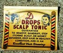 DROPS SCALP TONIC WINDOW DECAL(BARBER RELATED)