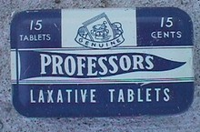 LAXATIVE TIN - PROFESSORS LAXATIVE TABLETS TIN
