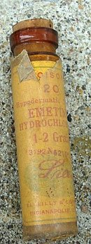 ELI LILLY EMETINE BOTTLE-UNOPENED