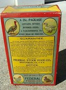 FEDERAL POULTRY TONIC FOOD BOX-UNOPENED; GRAPHIC