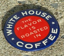 WHITE HOUSE COFFEE ADVERTISING MIRROR