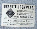 GRANITE IRON WARE TRADE CARD-GRAPHIC