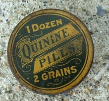 QUININE PILLS MEDICINAL TIN-EMPTY