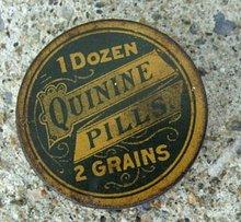 QUININE PILLS MEDICINAL TIN-EMPTY