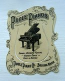 POOLE PIANOS CELLULOID BOOKMARK