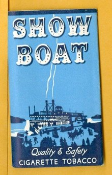 SHOW BOAT CIGARETTE TOBACCO PAPERS