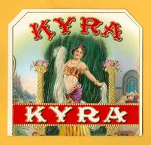 KYRA SIDE LABEL FOR CIGAR  BOX