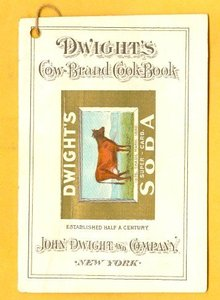 SCARCE DWIGHT'S COW-BRAND COOK-BOOK -COW IMAGE